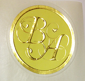 foil embossed labels